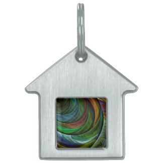 Color Glory Abstract Art House Pet Tag