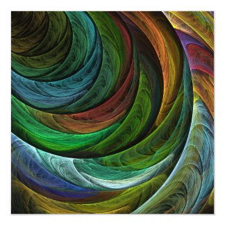 Color Glory Abstract Art Invitations