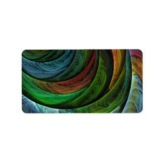 Color Glory Abstract Art Personalized Address Labels