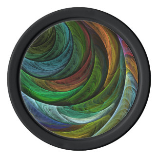 Color Glory Abstract Art Poker Chip Set