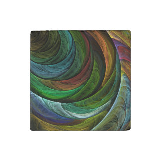 Color Glory Abstract Art Stone Magnets