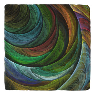 Color Glory Abstract Art Stone Trivet