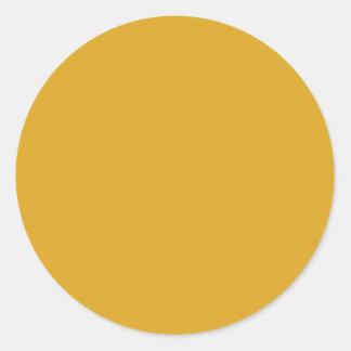 color goldenrod round sticker