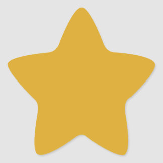 color goldenrod star sticker