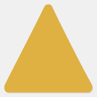 color goldenrod triangle sticker