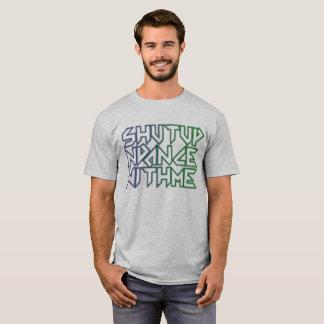Color Gradient Shut Up n Dance with Me Text T-Shirt