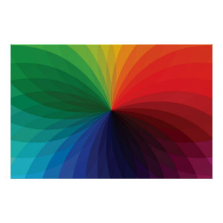 Color Gradient Wheel Poster