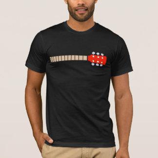color graphic acoustic guitar neck, cool music T-Shirt