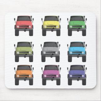 Color Grid Unimog Mouse Pad