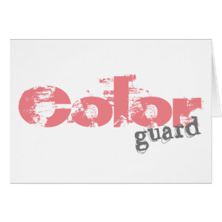 Color Guard Customizable Greeting Cards