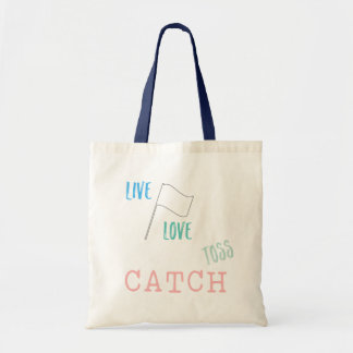 Color Guard: Live, Love, Toss, CATCH Tote Bag