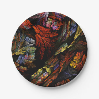 Color Harmony Abstract Art 7 Inch Paper Plate