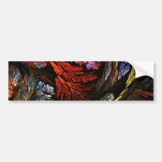 Color Harmony Abstract Art Bumper Sticker