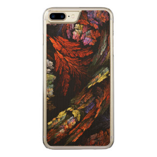 Color Harmony Abstract Art Carved iPhone 7 Plus Case