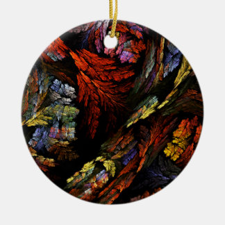 Color Harmony Abstract Art Circle Ornament