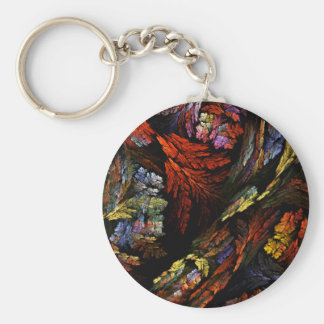 Color Harmony Abstract Art Keychain