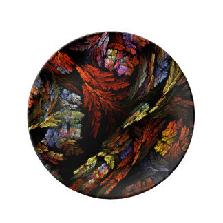 Color Harmony Abstract Art Plate