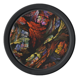 Color Harmony Abstract Art Poker Chips Set