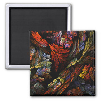 Color Harmony Abstract Art Square Magnet
