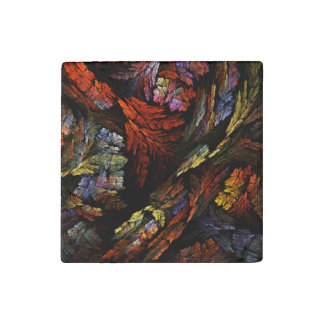 Color Harmony Abstract Art Stone Magnets