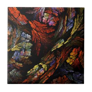 Color Harmony Abstract Art Tile