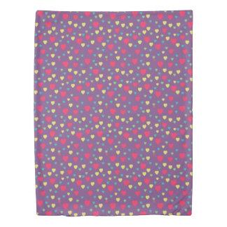 Color Hearts Pattern Duvet Cover