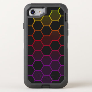 Color Hex with Grey OtterBox Defender iPhone 8/7 Case