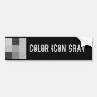 Color Icon Gray Bumper Sticker