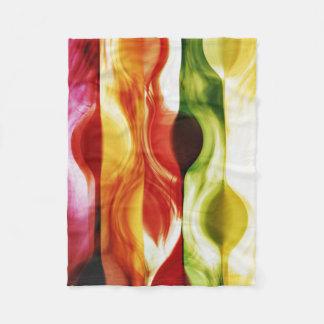 color in motion #3 fleece blanket