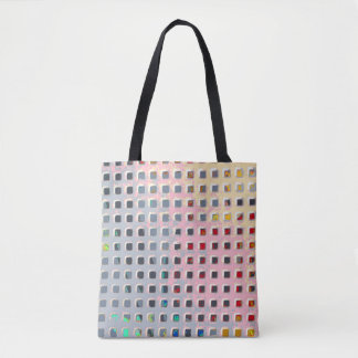 Color in the Grid Tote Bag