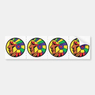 Color Indian Head Bumper Sticker