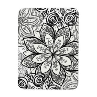 Color It Yourself Magnet - Floral 1