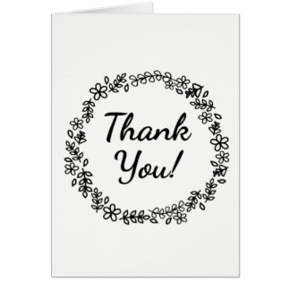 Color It Yourself Thank You Card