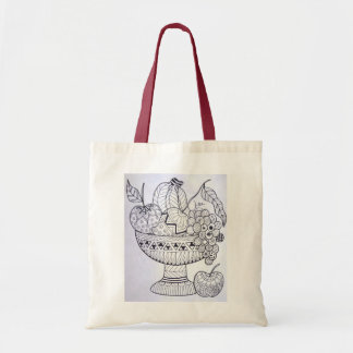 Color It Yourself Tote Bag - Fruit Bowl