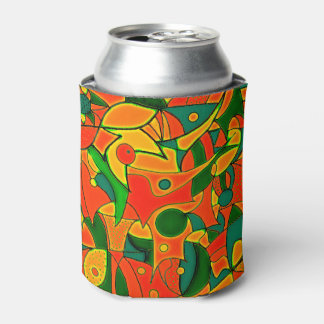 Color Jungle Red Inspiration Can Cooler