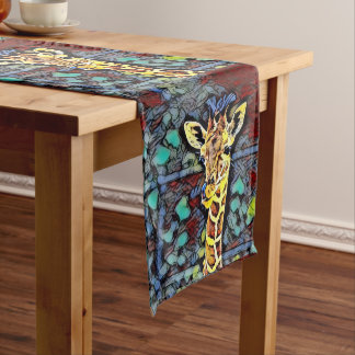 Color Kick - Baby Giraffe Medium Table Runner