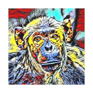 Color Kick - Chimp Canvas Print