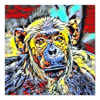 Color Kick - Chimp Magnetic Card