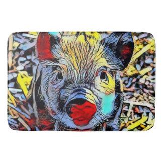 color kick - piglet bath mat