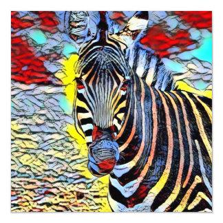 Color Kick - Zebra Magnetic Card