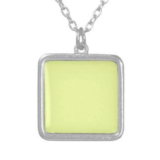 color luis lemon silver plated necklace