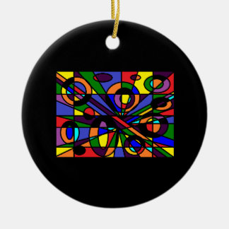 Color Maze Ceramic Ornament
