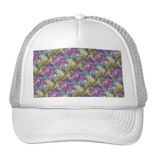 Color Maze Sissy Girl Camo Colorful Girly Abstract Mesh Hats