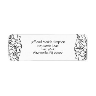 Color Me Black and White One Return Address Label