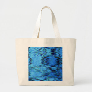 COLOR ME BLUE (an abstract art design) ~ Jumbo Tote Bag
