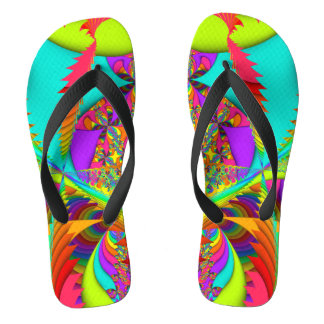 Color Me Bright Fractal Flip Flops