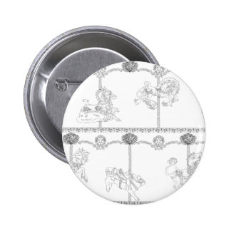 Color Me Carousel 2 Inch Round Button