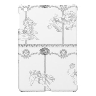 Color Me Carousel iPad Mini Case