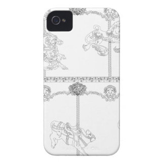 Color Me Carousel iPhone 4 Cases