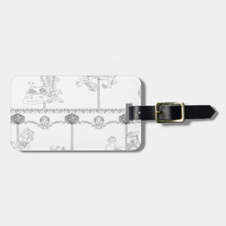 Color Me Carousel Luggage Tag